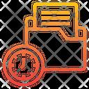 Folder Clock Time Icon