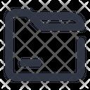 Folder Minus Remove Icon