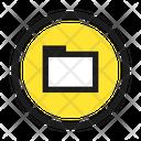 Folder Square Retro Icon
