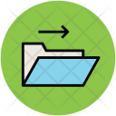 Folder With Arrow Icon