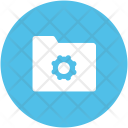 Folder Cog Settings Icon