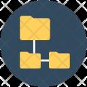 Folder Hierarchy Connected Icon