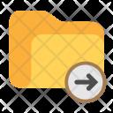 Folder Move Arrow Icon