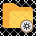 Folder Settings Gear Icon