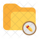 Folder Edit Pencil Icon