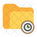 Folder Time Clock Icon