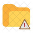 Folder Warning Data Icon