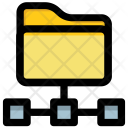 Folder and connected fil Icon
