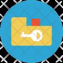 Folder and key Icon