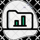 Folder Bar Chart Icon
