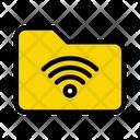 Folder Archive Wifi Icon