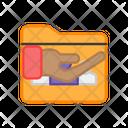 Folder Care Portfolio Care Document Care Icon
