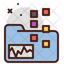 Folder Chart Icon