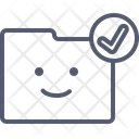 Folder checkmark Icon