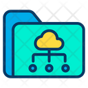 Cloud Folder Sharing Icon