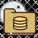 Folder Coins Icon
