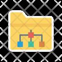 Folder data hierarchy Icon