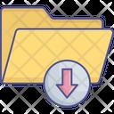 Content Saving Data Transmit Download Folder Icon