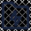 Folder Electric Icon