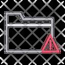 Folder Error Warning Icon