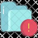 Artboard Folder Error Foler Alert Icon