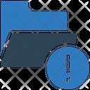 Folder Error File Error Document Error Icon