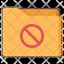 Folder Forbidden Folder Ban File Folder Icon