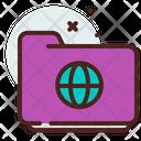 Folder Globe Icon