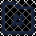 Folder Hastag File Icon