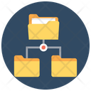 Folder Hierarchy Connected Folder Folder Sharing Icon
