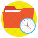 Folder Clock Scheduling Icon