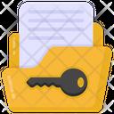 Folder Access Folder Key Folder Passkey Icon