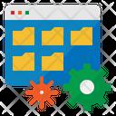 Folder Management Data Icon