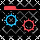 Folder Gear Management Icon