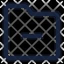 Folder Minus File Icon