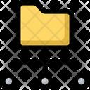 Folder Sharing Data Icon