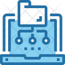 Folder Network Laptop Icon