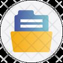 Archive Folder Open Storage Icon