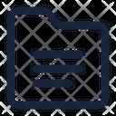 Folder Paragraph File Icon