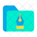 Pen Design Folder Graphic Folder Icon
