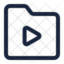 Folder Play File Icon