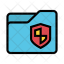 Folder Security Shield Icon