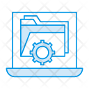 Laptop Folder Setting Icon