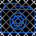 Folder Setting Gear Icon