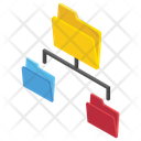 Data Network Information Sharing Shared Folder Icon
