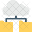 Folder Connected Cloud Icon