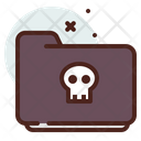 Folder Skull Icon