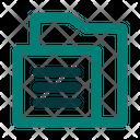 File Folder Sort Icon