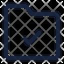 Folder Tick File Icon