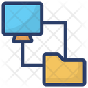 Folder Transfer Data Transfer Folder Exchange Icon
